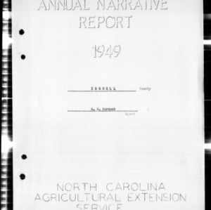 Annual Narrative Report, Iredell County, NC
