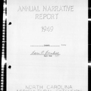 Annual Narrative Report of Iredell County, NC