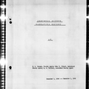 Johnston County Narrative Report of Johnston County, NC