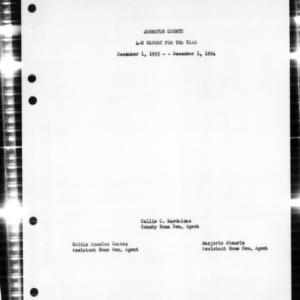 4-H Report, Johnston County, NC