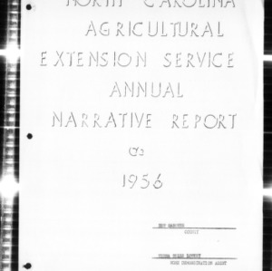 North Carolina Agricultural Extension Service Home Demonstration Agent Annual Narrative Report, New Hanover County, NC