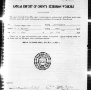 Annual Report of County Extension Workers, Rockingham County, NC
