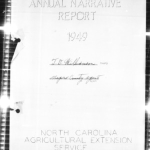 Annual Narrative Report of the Negro County Agent, Rockingham County, NC