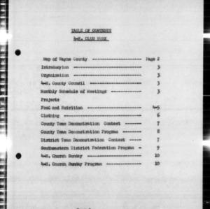 Annual Narrative 4-H Club Work Report, Wayne County, NC