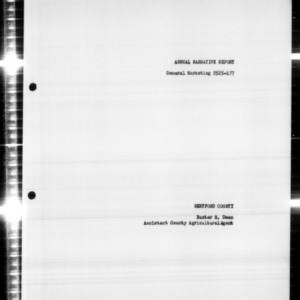 Annual Narrative Report of General Marketing, Hertford County, NC, Agricultural Management Assistance (AMA) Project, 1958