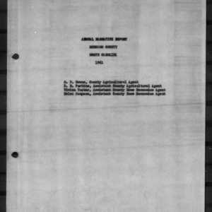 Annual Narrative Report, Robeson County, NC