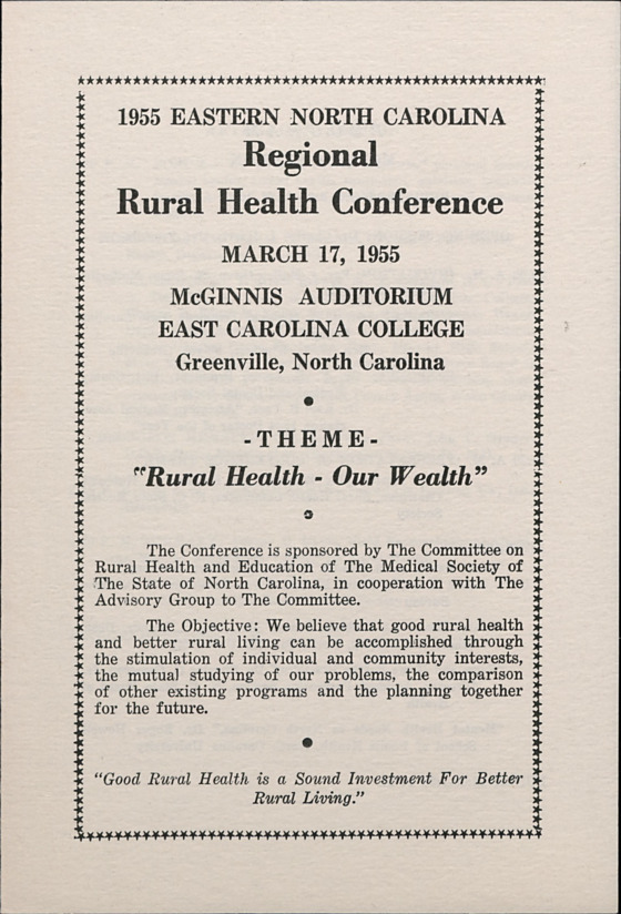 Health Conferences -- Regional :: Administrative Records