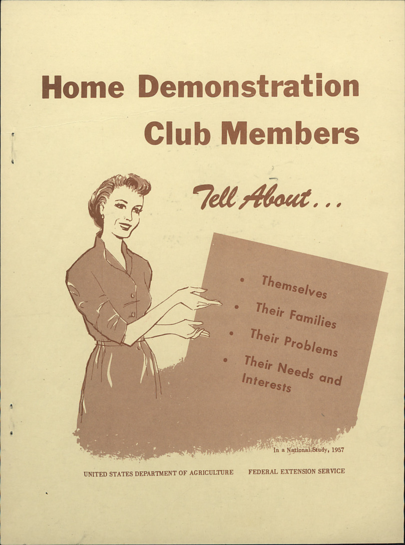 Member Studies -- Home Demonstration Clubs :: Administrative Records