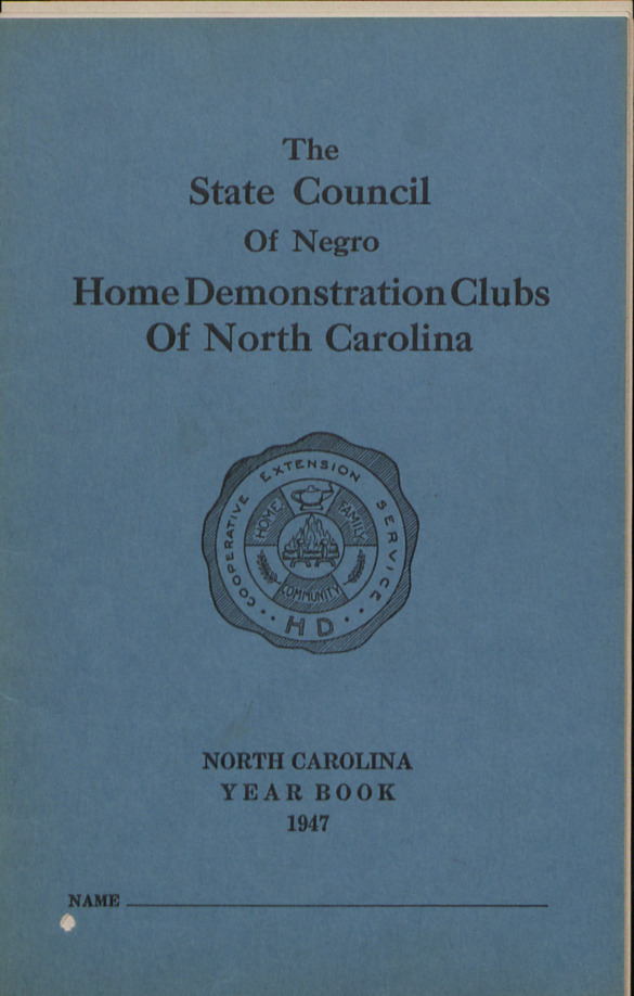 Negro Home Demonstration Work :: Negro Home Demonstration :: Administrative Records