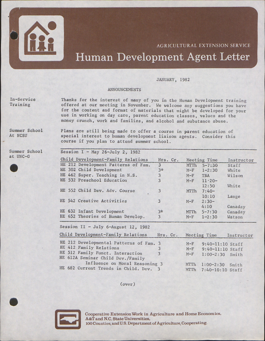 Newsletter --                              Human Development Letter :: Administrative Records