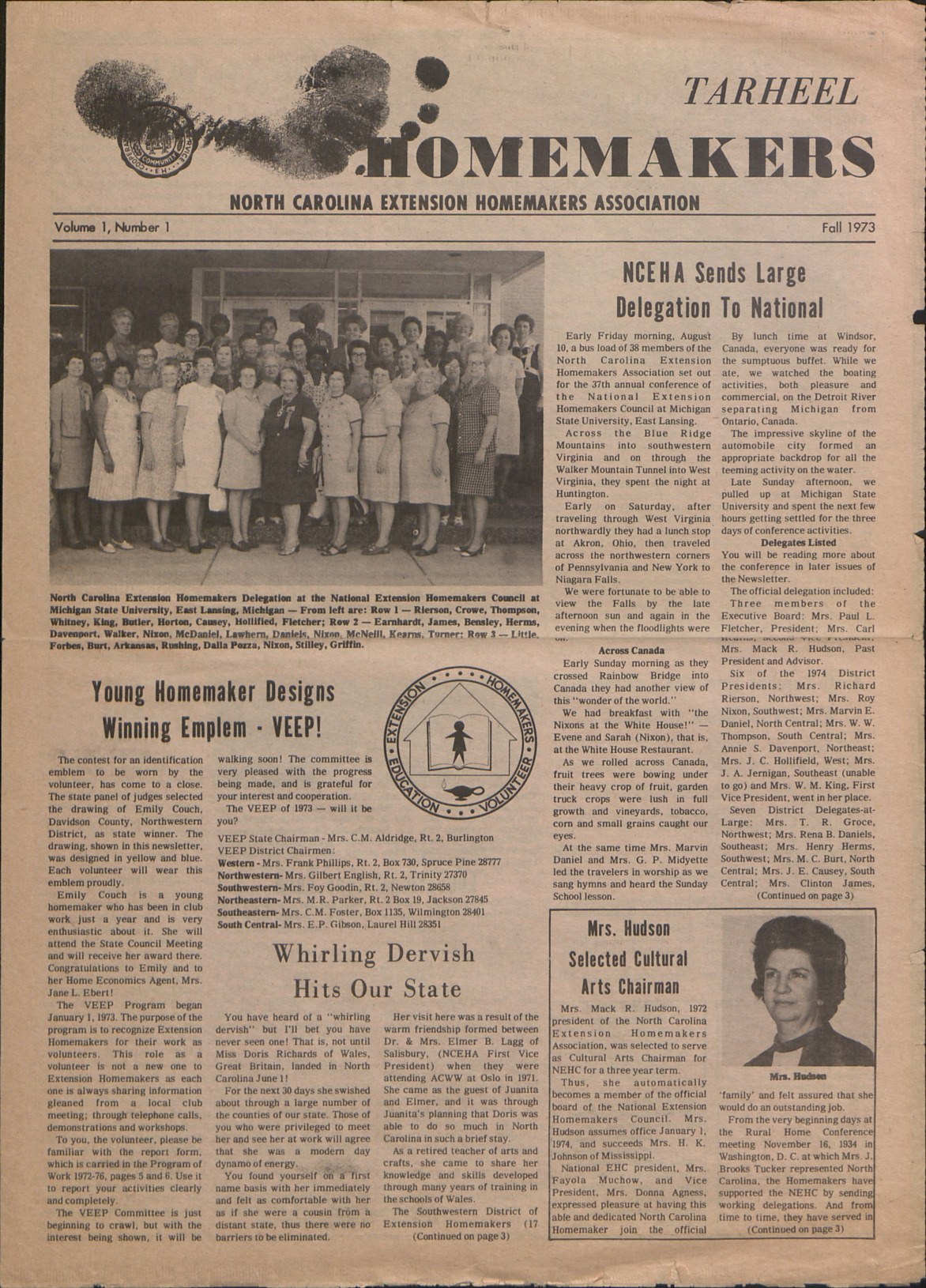 Newsletter --                              Tarheel Homemaker :: Administrative Records