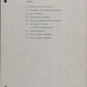 Parliamentary Procedure :: Administrative Records