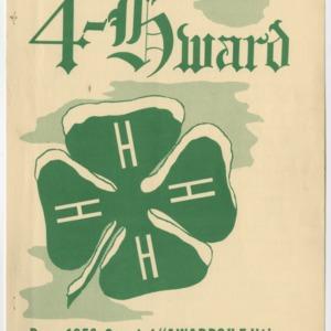 """4-Hward Dec. 1956 Special """"AWARDS"""" Edition"""
