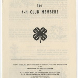 Corn Club Manual for 4-H Club Members (Club Series No. 3, Revised)