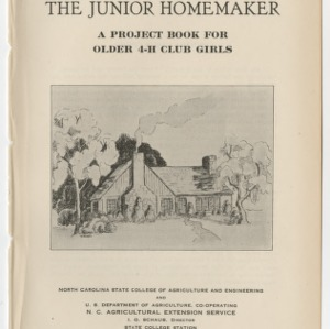 The Junior Homemaker: A Project Book for Older 4-H Club Girls (Club Series No. 5)