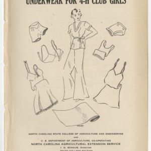 Underwear For 4-H Club Girls (Club Series No. 6)
