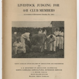 Livestock Judging For 4-H Club Members (Club Series No. 10, A Revision of Extension Circular No. 131)