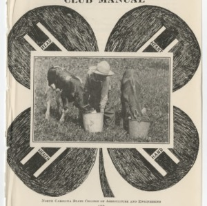 A 4-H Dairy Calf Club Manual (Club Series No. 12)