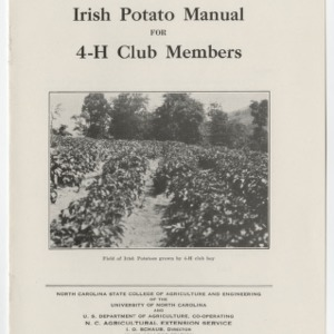Irish Potato Manual For 4-H Club Members (Club Series No. 21)