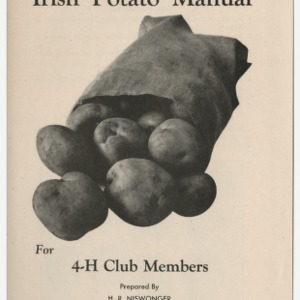 Irish Potato Manual For 4-H Club Members (Club Series No. 21, Revised)