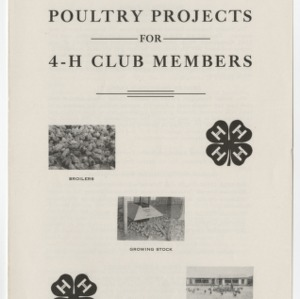 Poultry Projects For 4-H Club Members (4-H Club Series No. 22)