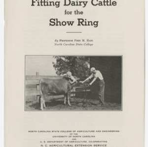 Fitting Dairy Cattle for the Show Ring (Club Series No. 19)
