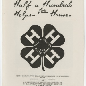 Half a Hundred Helps for Home (4-H Club Series No. 36)