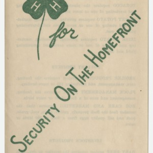 4H for Security on the Homefront - Join the 4H Club (4-H Club Series No. 47)