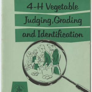 4-H vegetable judging, grading, and identification (Club Series No. 94)