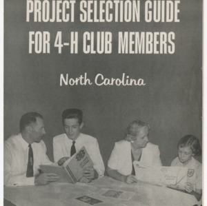 Project Selection Guide for 4-H Club Members (Club Series 98, Reprint 1957)
