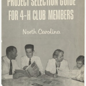 Project Selection Guide for 4-H Club Members (Club Series 98, Revised 1962)