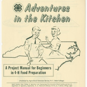 Adventures in the Kitchen: A Project Manual for Beginners in 4-H Food Preparation (Club Series 103)