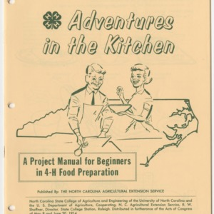 Adventures in the Kitchen: A Project Manual for Beginners in 4-H Food Preparation - (Club Series 103, Reprint)