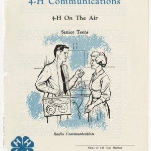 4-H Communications: 4-H On the Air (Club Series 122)
