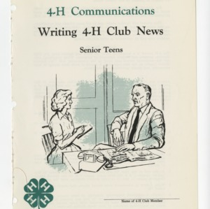 4-H Communications: Writing 4-H Club News (Club Series 113)