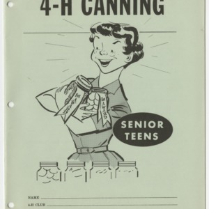 4-H Canning, Senior Teens (Club Series 124, Reprint)