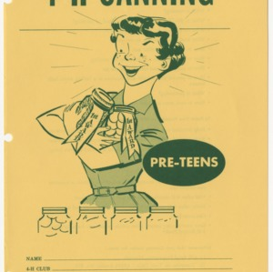 4-H Canning, Pre-Teens (Club Series 128)