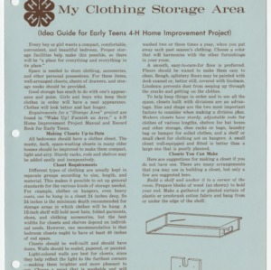 My Clothing Storage Area (Idea Guide for Early Teens 4-H Home Improvement Project) (Club Series 143)
