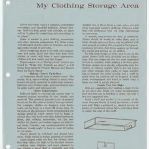 My Clothing Storage Area (Club Series 143, Reprint)
