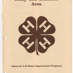 Study and Business Area (Ideas for 4-H Home Improvement Program) (Club Series 144)