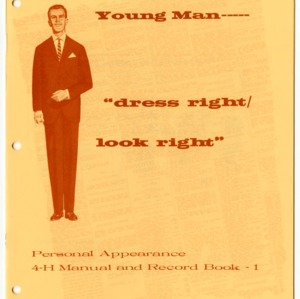"Young Man---- ""dress right/look right"" Personal Appearance 4-H Manual and Record Book - 1"