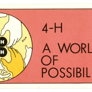 4-H: A World of Possibilities (4-H Flyer 1-60)