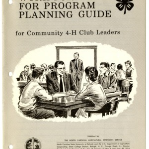 Work Forms for Program Planning Guide for Community 4-H Club Leaders (4-H F-1-25)