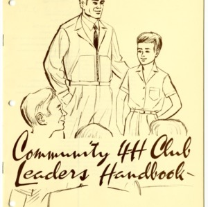 Community 4-H Club Leaders Handbook (4-H Leader's Guide 01-16, Reprint)
