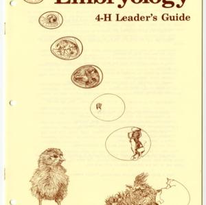 Embryology 4-H Leader's Guide (4-H Leader's Guide 21-35)