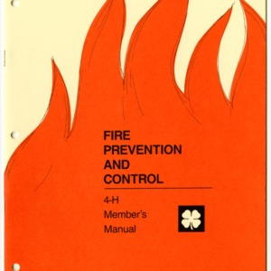 Fire Prevention and Control 4-H Member's Manual