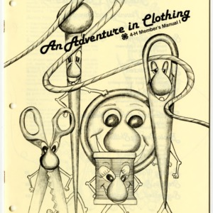 An Adventure in Clothing 4-H Member's Manual I (4-H Manual 6-22)