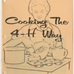 Cooking the 4-H Way (4-H Manual 13-1, Reprint)