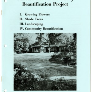 4-H Home and Community Beautification Project (4-H Manual 16-7, Reprint)