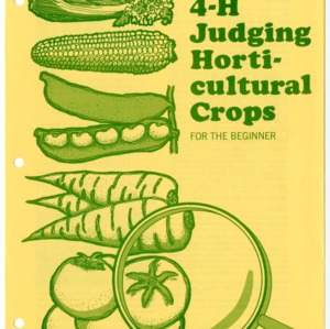 4-H Judging Horticultural Crops for the Beginner (4-H Manual 16-10, Reprint)
